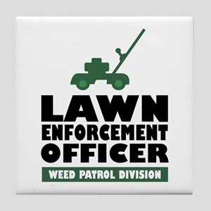 Lawn Enforcement Tile Coaster
