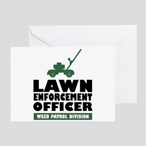 Lawn Enforcement Greeting Card