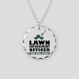 Lawn Enforcement Necklace Circle Charm