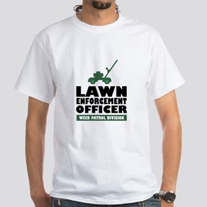 Lawn Enforcement White T-Shirt