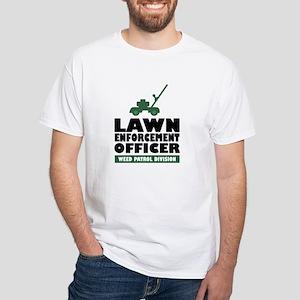 Lawn Enforcement White T-Shirt