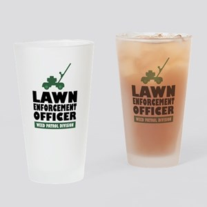 Lawn Enforcement Drinking Glass