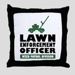 Lawn Enforcement Throw Pillow