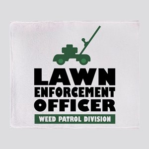 Lawn Enforcement Throw Blanket