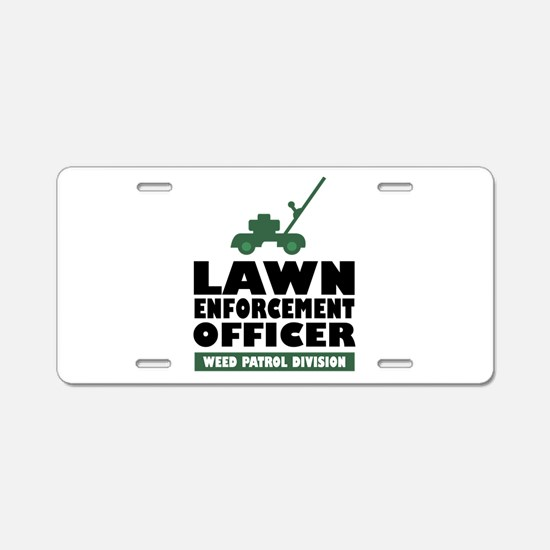 Lawn Enforcement Aluminum License Plate