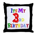 3rd Birthday Throw Pillow