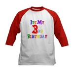 3rd Birthday Kids Baseball Jersey