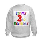 3rd Birthday Kids Sweatshirt