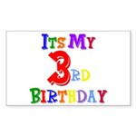 3rd Birthday Rectangle Sticker
