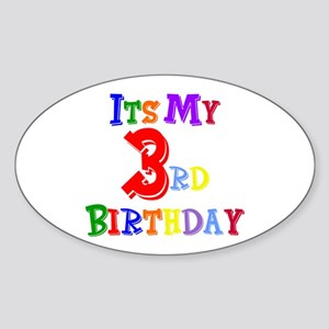 3rd Birthday Oval Sticker