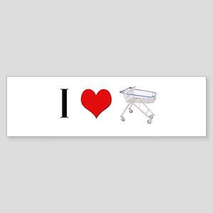 I heart random shopping carts Bumper Sticker