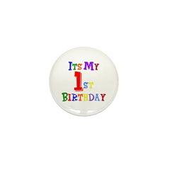 1st Birthday Mini Button (10 pack)