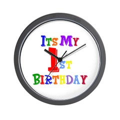 1st Birthday Wall Clock