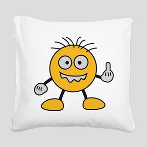 bad_finger Square Canvas Pillow