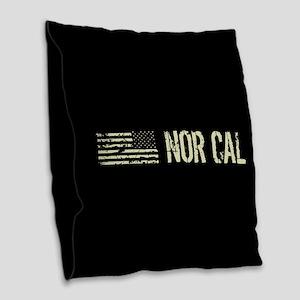 Black Flag: Nor Cal Burlap Throw Pillow