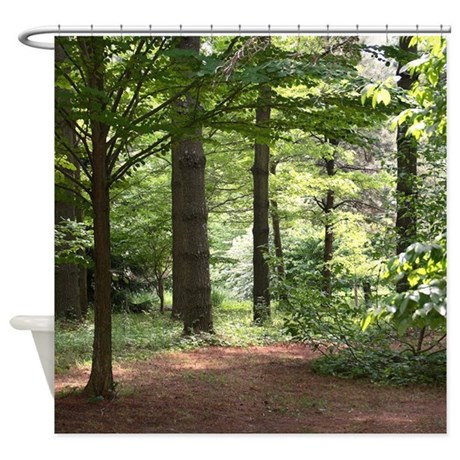 Walk In The Woods Shower Curtain By Jqdesigns