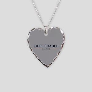 Deplorable Est 2017 Necklace Heart Charm