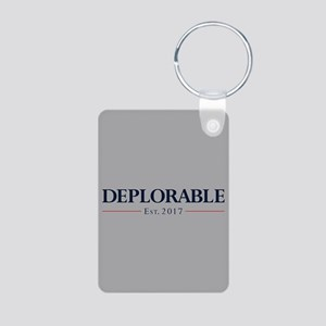 Deplorable Est 2017 Aluminum Photo Keychain