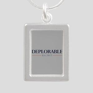 Deplorable Est 2017 Silver Portrait Necklace