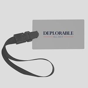 Deplorable Est 2017 Large Luggage Tag