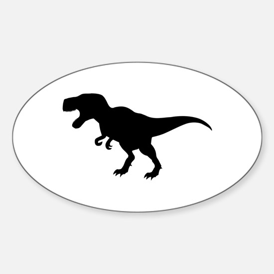 Dinosaur T-Rex Sticker (Oval)