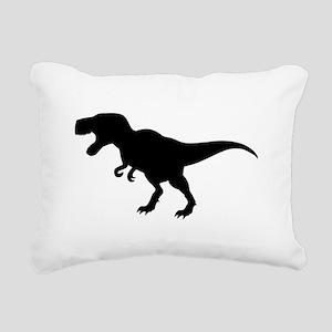 Dinosaur T-Rex Rectangular Canvas Pillow