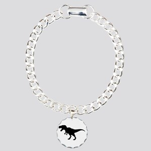 Dinosaur T-Rex Charm Bracelet, One Charm