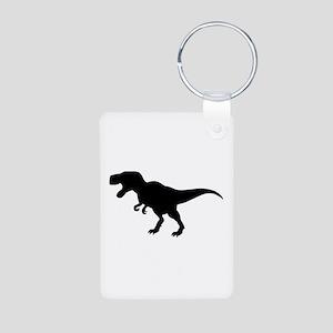 Dinosaur T-Rex Aluminum Photo Keychain