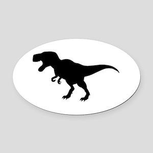 Dinosaur T-Rex Oval Car Magnet