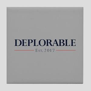 Deplorable Est 2017 Tile Coaster