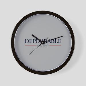 Deplorable Est 2017 Wall Clock
