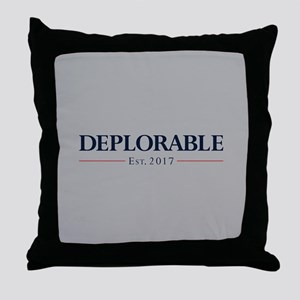 Deplorable Est 2017 Throw Pillow
