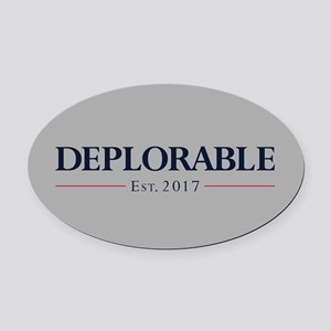 Deplorable Est 2017 Oval Car Magnet