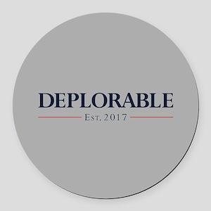 Deplorable Est 2017 Round Car Magnet