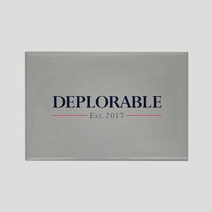 Deplorable Est 2017 Rectangle Magnet