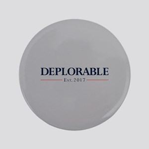 Deplorable Est 2017 Button