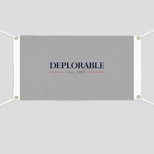 Deplorable Est 2017 Banner