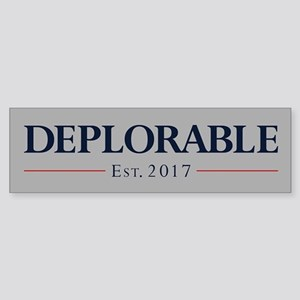 Deplorable Est 2017 Sticker (Bumper)