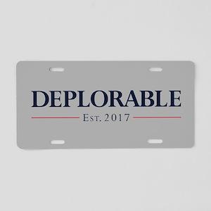Deplorable Est 2017 Aluminum License Plate