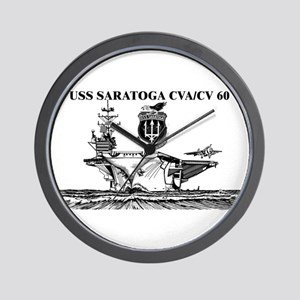 USS Saratoga Wall Clock