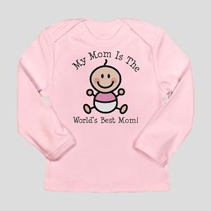 Baby Girl Stick Figure Best Mom Long Sleeve Infant