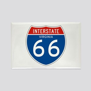Interstate 66 - VA Rectangle Magnet