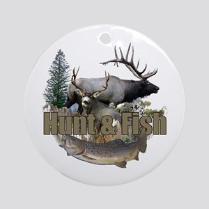 Hunt and Fish Ornament (Round)
