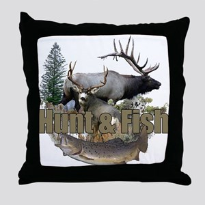 Hunt and Fish Throw Pillow