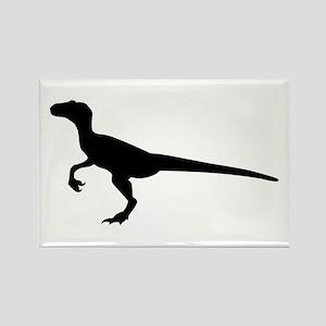 Dinosaur velociraptor Rectangle Magnet