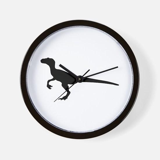 Dinosaur velociraptor Wall Clock