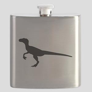 Dinosaur velociraptor Flask