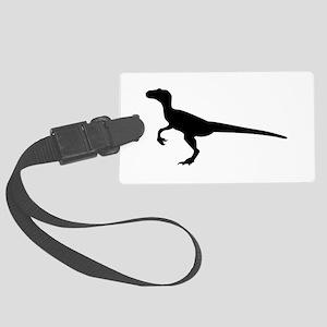 Dinosaur velociraptor Large Luggage Tag