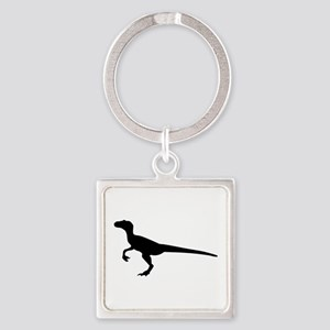 Dinosaur velociraptor Square Keychain