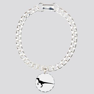 Dinosaur velociraptor Charm Bracelet, One Charm